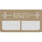 Toolbox Calendar- August Date Tag 01
