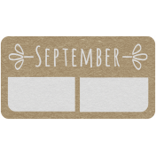 Toolbox Calendar- September Date Tag 01
