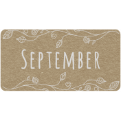 Toolbox Calendar- September Floral Date Tag 01