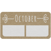 Toolbox Calendar- October Date Tag 01