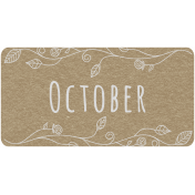 Toolbox Calendar- October Floral Date Tag 01