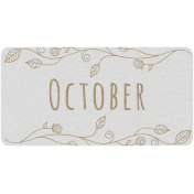 Toolbox Calendar- October Floral Date Tag 02