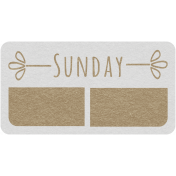 Toolbox Calendar- Sunday Date Tag 01