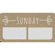 Toolbox Calendar- Sunday Date Tag 02