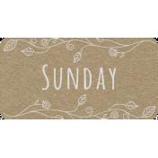 Toolbox Calendar- Sunday Floral Date Tag 01