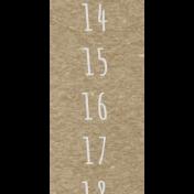Toolbox Calendar- Saturday Date Strip 01