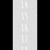 Toolbox Calendar- Saturday Date Strip 02