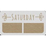 Toolbox Calendar- Saturday Date Tag 01