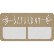 Toolbox Calendar- Saturday Date Tag 02
