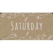 Toolbox Calendar- Saturday Floral Date Tag 01