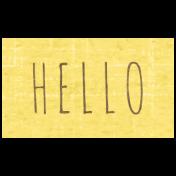 Slice of Summer- Hello Word Art