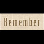 Slice of Summer- Remember Word Art