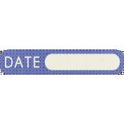 Digital Day- Blue Date Tag