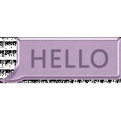 Digital Day- Hello Speech Bubble