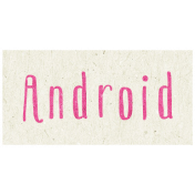 Digital Day- Android Word Art