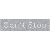 Digital Day- Can't Stop Word Art