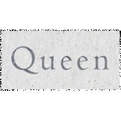 Digital Day- Queen Word Art