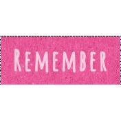Digital Day- Remember Word Art