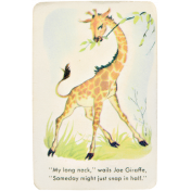 At the Zoo- Giraffe Ephemera Card