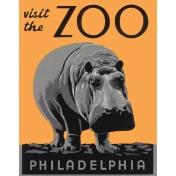 At the Zoo- Hippo Ephemera 02
