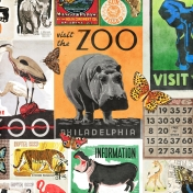 At the Zoo- Ephemera Paper