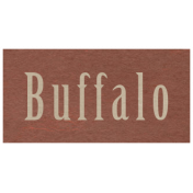 At the Zoo- Buffalo Word Art