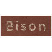 At the Zoo- Bison Word Art