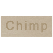 At the Zoo- Chimp Word Art