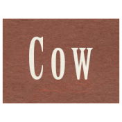 At the Zoo- Cow Word Art