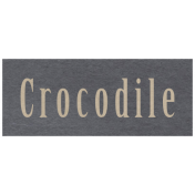 At the Zoo- Crocodile Word Art