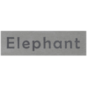At the Zoo- Elephant Word Art