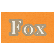 At the Zoo- Fox Word Art