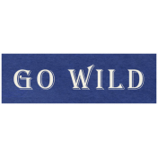 At the Zoo- Go Wild Word Art