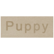 At the Zoo- Puppy Word Art