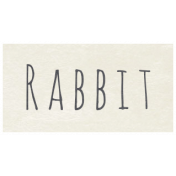 At the Zoo- Rabbit Word Art