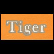 At the Zoo- Tiger Word Art
