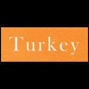 At the Zoo- Turkey Word Art