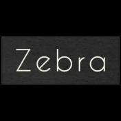 At the Zoo- Zebra Word Art