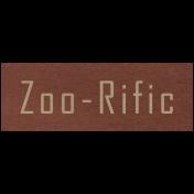 At the Zoo- Zoo-Rific Word Art