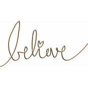 For the Love of Peace- Believe Word Art
