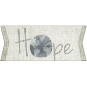 For the Love of Peace- Hope Word Art