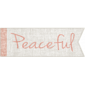 For the Love of Peace- Peaceful Word Art