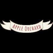 Apple Crisp- Apple Orchard Banner