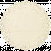 Apple Crisp- Cream Doily