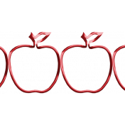 Apple Crisp- Metal Apple Border