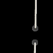 Apple Crisp- Unshadowed White Stitch