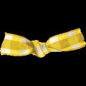 Apple Crisp- Yellow Gingham Ribbon