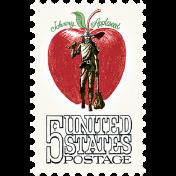 Apple Crisp- Postage Stamp 01