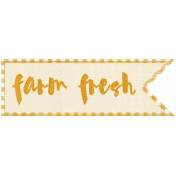 Apple Crisp- Farm Fresh Wordart
