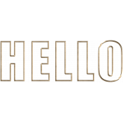 Apple Crisp- Hello Metal Wordart
